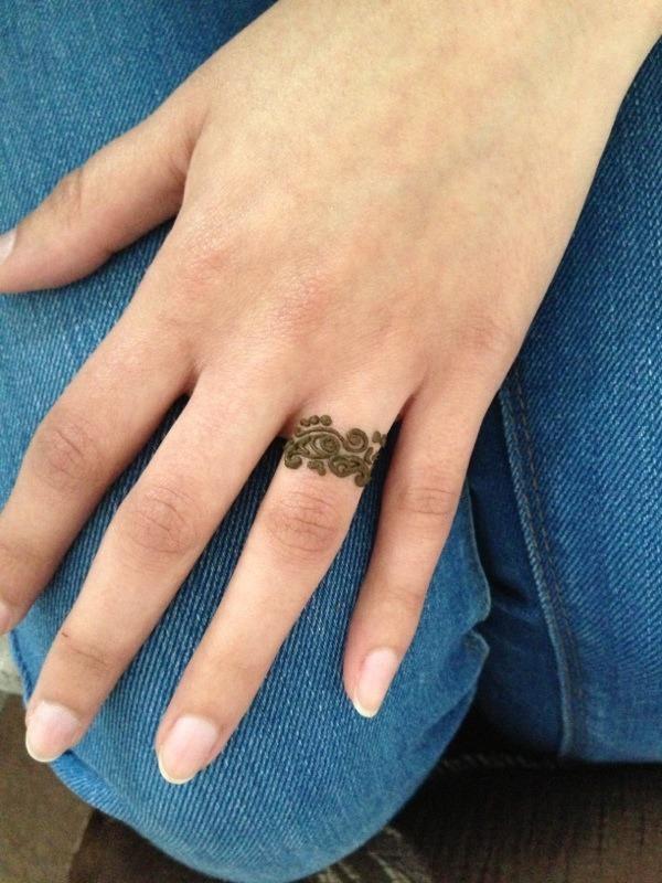Henna Tattoo Ring Designs: Mandeep K.'s Photo