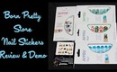 Born Pretty Store Christmas Nail Stickers Demo + 3 Nail Designs