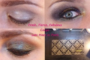 """Fresh, Fierce And Fabulous!  1 Palette, 3 Looks.  These are looks from my new tutorial ft. Cargo's """"Lets Meet in Paris"""" Palette. https://www.youtube.com/watch?"""