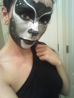 My first attempt, the look was based off of a real panther. Everything used was from walmart.