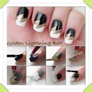 Cute lightning nails