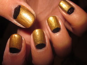 Gold half moons.