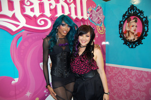 Hanging out with Josh at the Sugarpill booth
