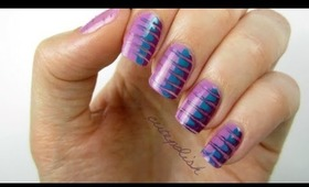 Radiant Orchid Nails: No tools needed!