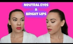 Neutral Eyes & Bright Lips │ Lorac Pro 3 Tutorial