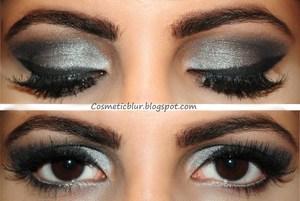 silver eyes, bold liner