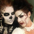 Skull and Bride of Frankenstein