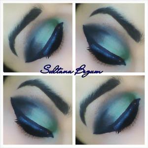 Jade green smokey eyes