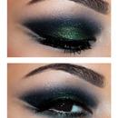 Black & Green Smokey Eyes