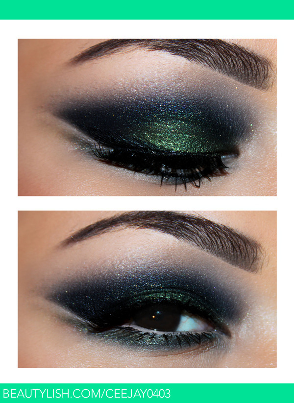 Black Amp Green Smokey Eyes Ceejay F S Ceejay0403 Photo