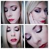 Plum Smoky Eye & Red Lips!