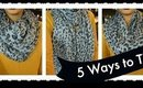 TUTORIAL | 5 Ways to Tie A Scarf feat. Moon Cats