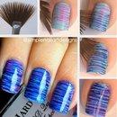 Ombré striping using fan brush