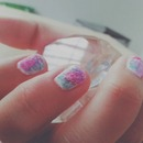 Textured Cotton Candy Nails