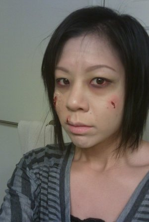 2010 halloween: zombie (first time using liquid latex)