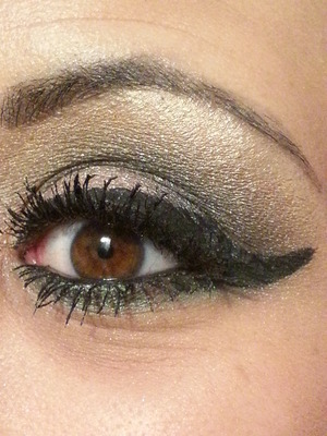 I used Urban Decay Eye shadows to create this smoky eye.  The products are listed below with Midnight Rodeo on my inner lids, Gunmetal on the outer lids and in my crease, with Blunt up by my brow.  I lined my lids with Shattered and then went over that with Oil Slick.  I finished off the look with black liquid liner and 2 coats of Lush Lash Mascara.