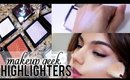 NEW MAKEUP GEEK HIGHLIGHTERS! + Full Face Swatches!