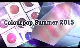 Colourpop Summer 2015 Collection- Bronzers SWATCHES