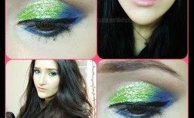 Green Glitter + ItsJudyTime Palette TUTORIAL || Holiday Series