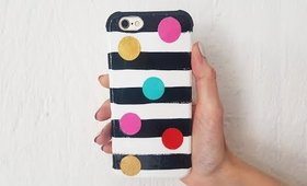 DIY Big Confetti's and Stripes Phone Case