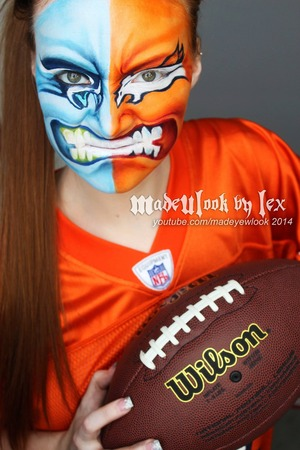 Definitely a little late on uploading this on to Beautylish, but this was my Superbowl look for this year!