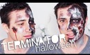 Halloween Terminator Makeup ♡ Creepy Zombie Mime