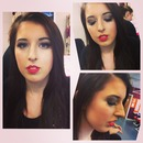 Evening makeup on the beautiful Katie