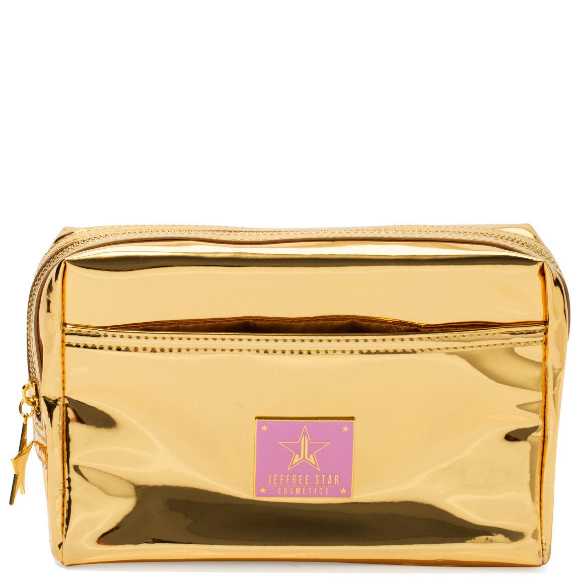 Jeffree Star Cosmetics Makeup Bag Reflective Gold product swatch.
