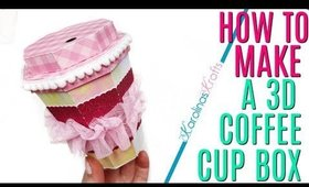 How to make a 3D Paper Coffee Cup Box perfect for Embellishments, a Gift Card, Coffee etc!
