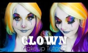 Sparkly Clown Halloween Makeup Tutorial