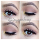 Neutral look with a pop of yellow