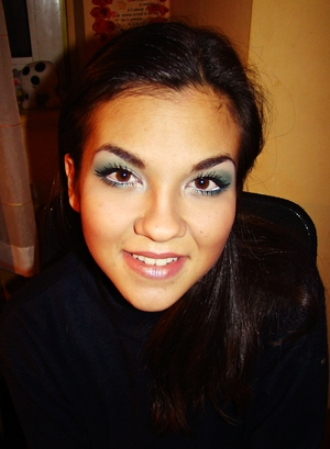My beautiful sister with my makeup work :)