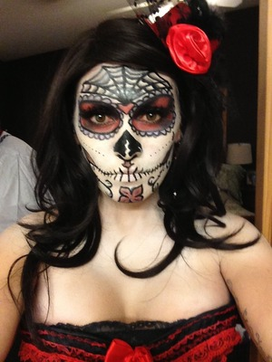 Makeup for Halloween on me by me