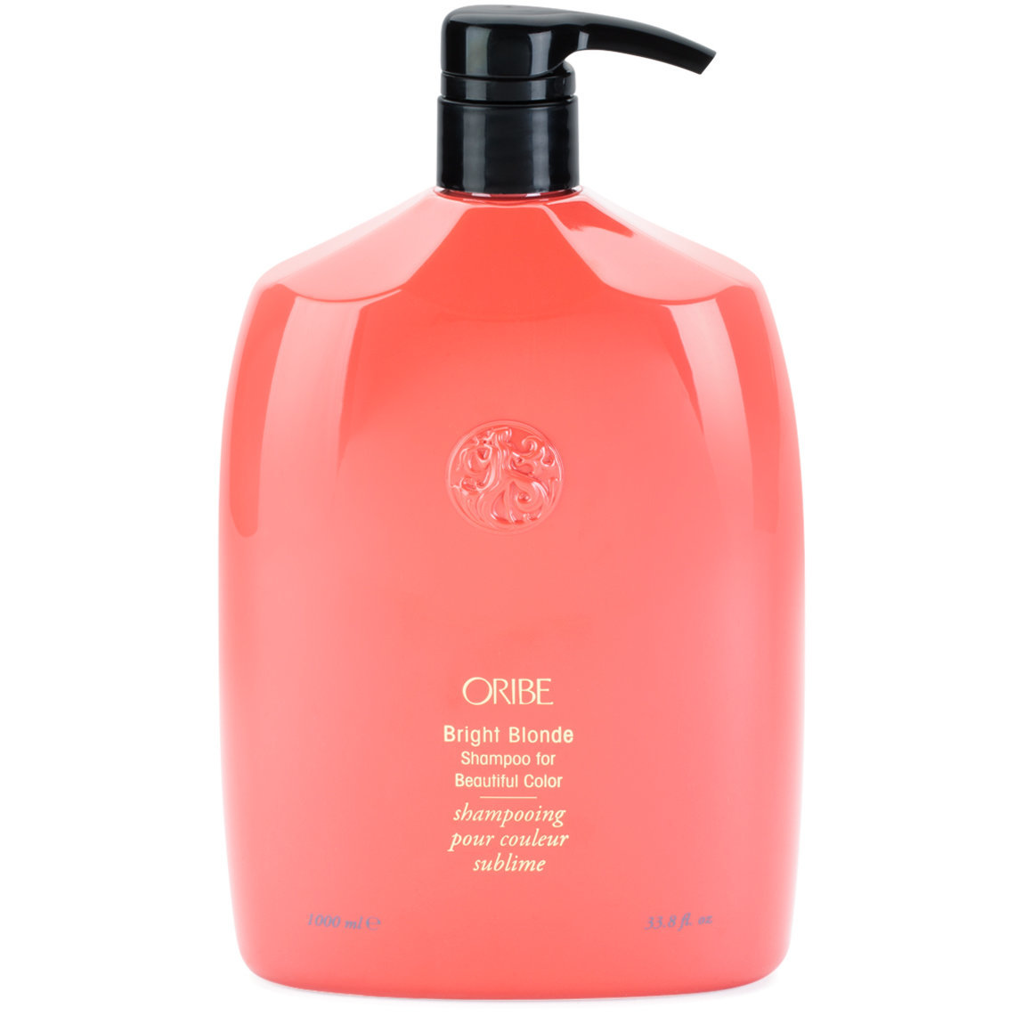 Oribe Bright Blonde Shampoo for Beautiful Color 1 L product swatch.