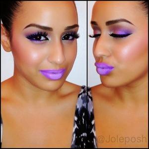Makeup I wore for Lupus Awareness Day yesterday. 💜   Instagram: @Joleposh