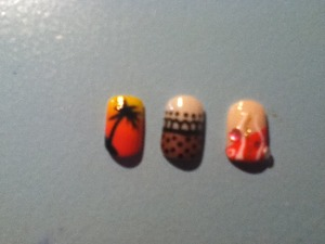 Palm tree, Two cute nails designs