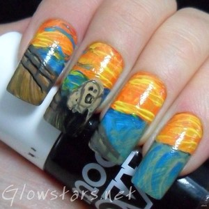 To find out more about this mani please visit http://glowstars.net/lacquer-obsession/2012/09/30-days-of-untrieds-inspired-by-artwork
