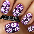Halloween Skully Nail Art