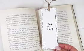 DIY You Are Here Bookmark