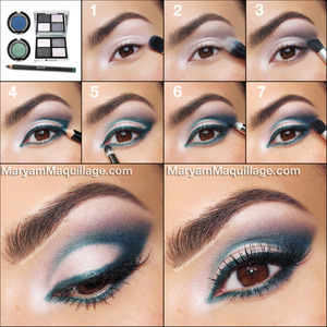 DETAILS on my blog: http://www.maryammaquillage.com/2013/07/playful-peacock-summertime-makeup.html