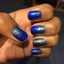 Cobalt blue and platinum sparkles