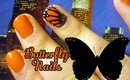 Monarch Butterfly Nail Art Tutorial