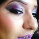 purple eyes purple lips