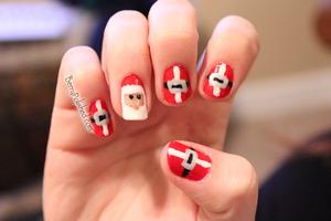 Santa Nails for Christmas '11