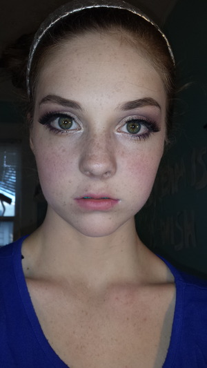 the makeup i did for my freshman homecoming