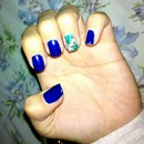 Bow accent on teal&blue
