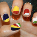 Seychelles Flag Nails