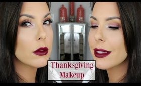 Thanksgiving Day Makeup Tutorial | Cranberry with Dark Lips