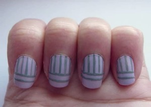 Lilac and Grey Stripes, August 9 2011
