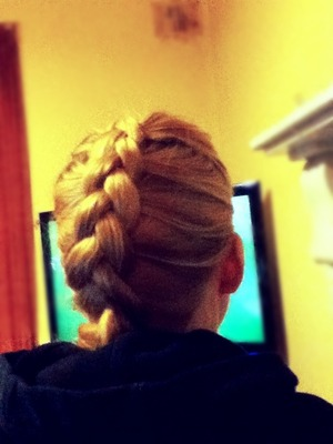 First attempt at a Dutch Braid :) I only found out today it existed and I'm a little obsessed with it now haha
